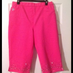 Bright & Cute Cropped Pants